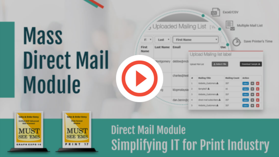 OnPrintShop Mass Direct Mail Module